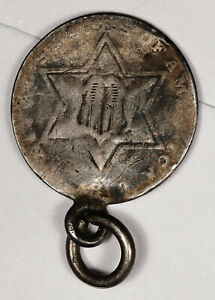 3 CENT SILVER.  PENDANT READY TO WEAR.  157019