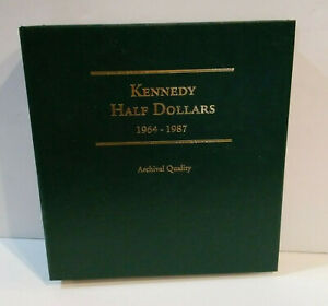 Click now to see the BUY IT NOW Price! 61 KENNEDY HALF DOLLARS   1964 TO 1987   LITTLETON COIN ALBUM   MG