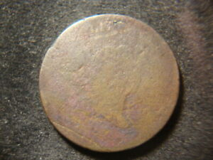 1795 WEAK DATE ORIGINAL LIBERTY CAP HALF CENT  ABQ