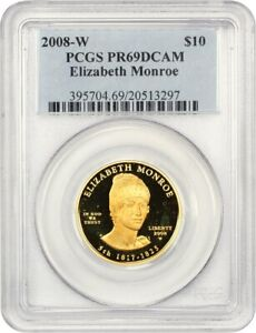 Click now to see the BUY IT NOW Price! 2008 W ELIZABETH MONROE $10 PCGS PROOF 69 DCAM