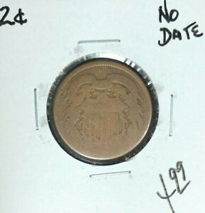 NO DATE   TWO CENT PIECE  NICE COIN
