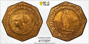 Click now to see the BUY IT NOW Price! 1915 S PCGS MS63 PAN PAC OCTAGONAL $50 COMMEMORATIVE GOLD