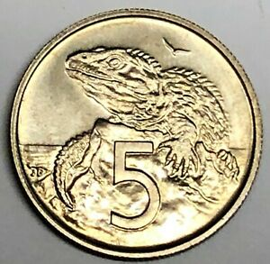 C6002    NEW ZEALAND   COIN   5 CENTS     1968   UNC.