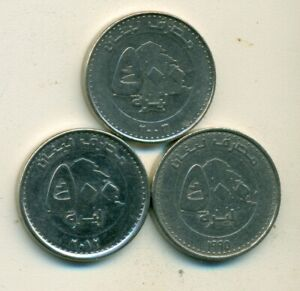 3 DIFFERENT 500 LIVRES COINS FROM LEBANON  1995 2003 & 2012