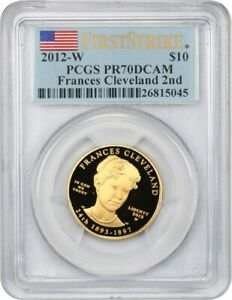 Click now to see the BUY IT NOW Price! 2012 W FRANCES CLEVELAND TERM 2 $10 PCGS PR 70 DCAM
