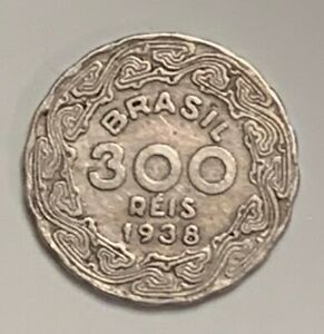 1938 BRAZIL 300 REIS KM 546 CIRCULATED CONDITION