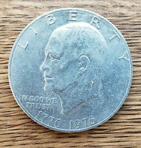 2005   EISENHOWER DOLLAR WITH LIBERTY BELL BICENTENNIAL 1776 1976 USED COIN IKE