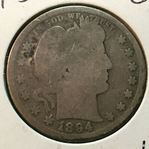 1894 S  GOOD  BARBER QUARTER
