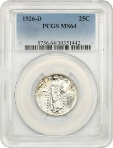 1926 D 25C PCGS MS64   GREAT TYPE COIN   STANDING LIBERTY QUARTER