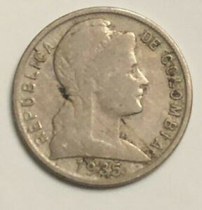 1935 COLOMBIA 5 CENTAVOS KM 199 CIRCULATED CONDITION