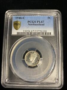 Click now to see the BUY IT NOW Price! NEWFOUNDLAND 1946 C 5 CENTS PL67 PCGS