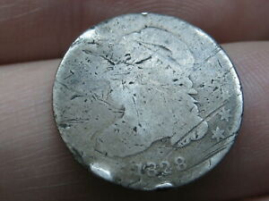1828 SILVER CAPPED BUST DIME  SMALL DATE