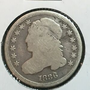 1836  VG  CAPPED BUST DIME  NICE COIN