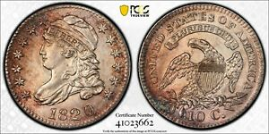 1820 PCGS MS62 LARGE 0 CAPPED BUST DIME
