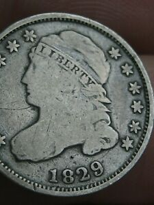 1829 90  SILVER CAPPED BUST DIME  LARGE 10C