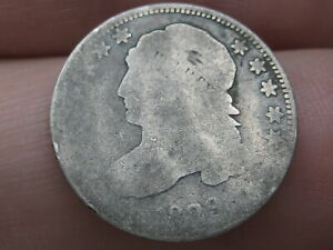 1829 CAPPED BUST SILVER DIME  GOOD DETAILS MEDIUM 10 C
