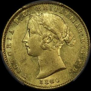 Click now to see the BUY IT NOW Price! 1860 SYDNEY MINT TYPE II HALF SOVEREIGN OVERDATE ABOUT UNC  PCGS AU58