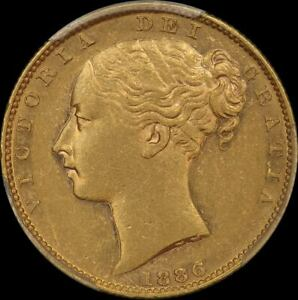 Click now to see the BUY IT NOW Price! 1886 MELBOURNE SHIELD SOVEREIGN SHIELD REVERSE GOOD EF  PCGS AU55