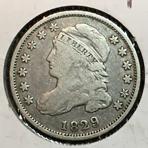 1829   FINE    CAPPED BUST DIME  NICE COIN  2