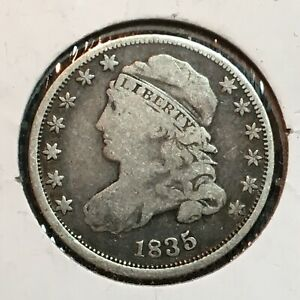 1835   FINE   CAPPED BUST DIME  NICE COIN