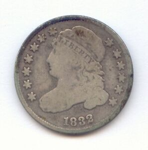 1832 CAPPED BUST SILVER DIME   DECENT CIRCULATED