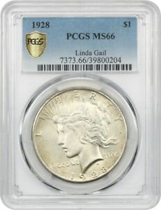 Click now to see the BUY IT NOW Price! 1928 $1 PCGS MS66   LOWEST MINTAGE DATE IN THE SERIES   PEACE SILVER DOLLAR