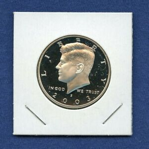 2003 S KENNEDY PROOF 90  SILVER HALF DOLLAR 50C US MINT 10 2003 S PROOF DCAM