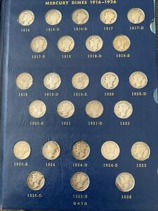 Click now to see the BUY IT NOW Price! MERCURY  DIME SET 1926 1945 INCLUDES 1916 D