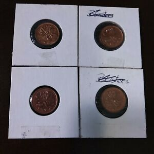 1998&1968&2000&2001 ONE CENT  CANADA