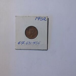 1952 RED   CENT CANADA