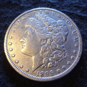 1895 O MORGAN SILVER DOLLAR   SOLID VF DETAILS KEY FROM THE NEW ORLEANS MINT