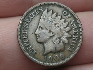 1906 INDIAN HEAD CENT PENNY  FINE/VF DETAILS