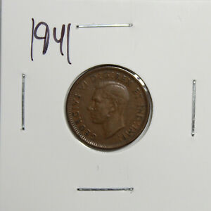 1941 CANADA PENNY 1 CENT COPPER CANADIAN COIN