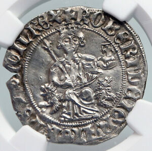 Click now to see the BUY IT NOW Price! 1309 43 ITALY NAPLES KING ROBERT D'ANJOU ANTIQUE MEDIEVAL SILVER COIN NGC I90709