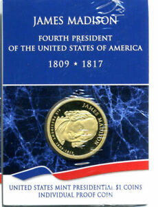 2007 S BU PROOF PRESIDENTIAL DOLLAR JAMES MADISON $1 UNCIRCULATED COIN JIM 4996