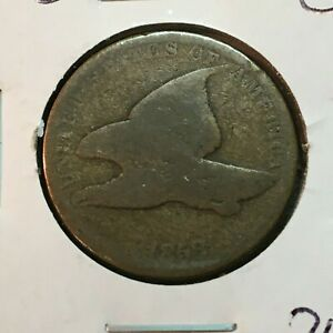 1858  GOOD   FLYING EAGLE CENT   NICE COIN