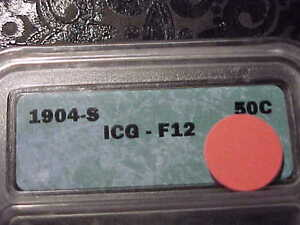 ICG F 12 1904 S  BARBER HALF DOLLAR     KEY DATE    LITY AND TOP OF B E R