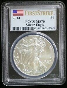 2014 AMERICAN SILVER EAGLE ASE PCGS MS70 FIRST STRIKE   09754
