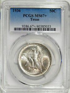 Click now to see the BUY IT NOW Price! 1936 TEXAS PCGS MS 67    LOW POP SILVER COMMEMORATIVE HALF DOLLAR