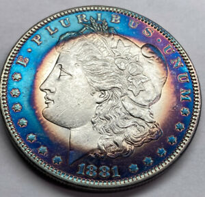 Click now to see the BUY IT NOW Price! 1881 O MORGAN SILVER DOLLAR AMAZING TONING  BU