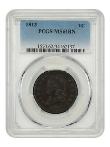Click now to see the BUY IT NOW Price! 1813 1C PCGS MS62 BN    LARGE CENT   CLASSIC HEAD LARGE CENTS  1808 1814