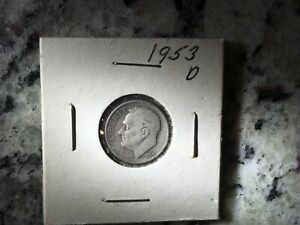 1953 D ROOSEVELT DIME   CIRCULATED COIN