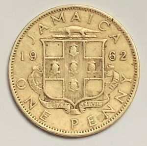 1962 JAMAICA PENNY KM37 CIRCULATED CONDITION