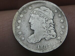 1837 CAPPED BUST HALF DIME  SMALL 5C FINE DETAILS