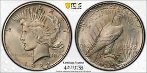 PCGS MS65  1922 D PEACE DOLLAR WITH TRUE VIEW PHOTO