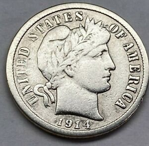 Click now to see the BUY IT NOW Price! 1914 BARBER DIME 90  SILVER NICE