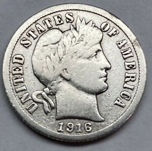 Click now to see the BUY IT NOW Price! 1916 BARBER DIME 90  SILVER NICE