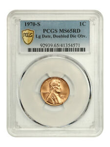 Click now to see the BUY IT NOW Price! 1970 S 1C PCGS MS65 RD  DOUBLED DIE OBVERSE LARGE DATE    REGISTRY QUALITY GEM