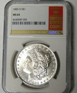 NGC MS64 1883 O MORGAN SILVER DOLLAR OFFICIAL RED BOOK LABEL 4640689 005