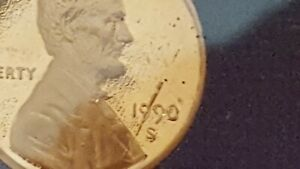 1990 S PROOF SET. MAJOR ERROR ON ONE CENT PENNY. LOOK.